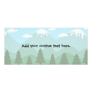 Mountain Forest Custom Rack Card