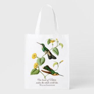 Mountain Gem Hummingbird Grocery Bag