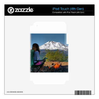 Mountain Girl Decals For iPod Touch 4G