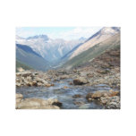 Mountain Glacial Creek Wrapped Canvas Gallery Wrapped Canvas