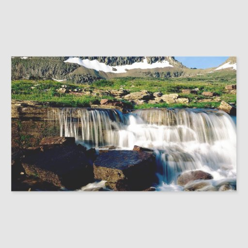 Mountain Glacier Park Montana Rectangular Sticker