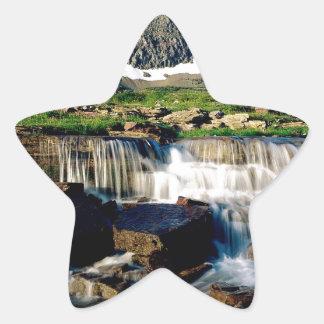 Mountain Glacier Park Montana Star Stickers