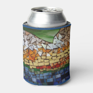 Mountain Glass Mosaic Can Cooler