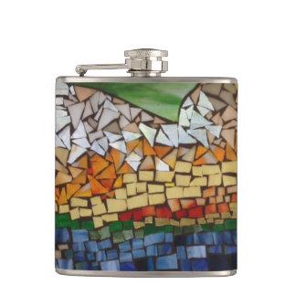 Mountain Glass Mosaic Flask