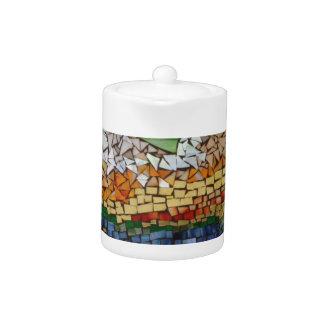 Mountain Glass Mosaic Teapot