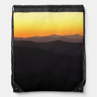 Mountain Glow Drawstring Bag