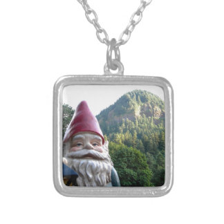 Mountain Gnome Silver Plated Necklace