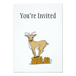 Mountain Goat 5x7 Paper Invitation Card