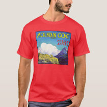Mountain Goat Apples Vintage Crate Label T-Shirt