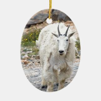 Mountain Goat Ceramic Ornament