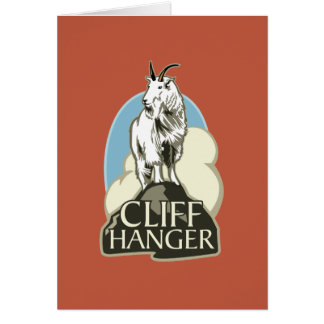 Mountain Goat Cliffhanger Greeting Cards