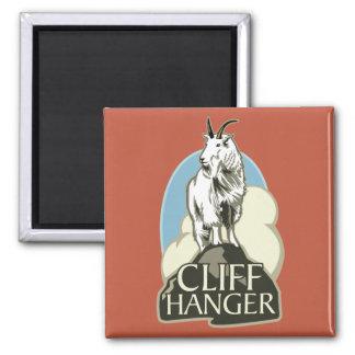 Mountain Goat Cliffhanger Refrigerator Magnet