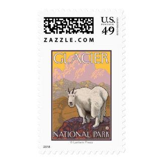 Mountain Goat - Glacier National Park, MT Postage Stamp