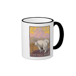 Mountain Goat - Glacier National Park, MT Ringer Mug