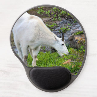 Mountain Goat Grazing in Glacier Park Gel Mouse Pad