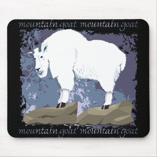 Mountain Goat Grunge Mouse Pad