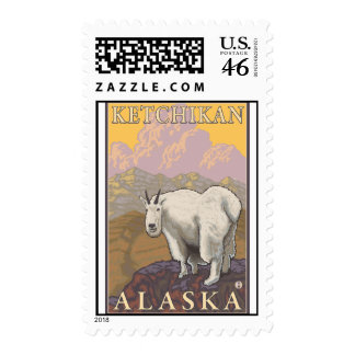 Mountain Goat - Ketchikan Alaska Stamp