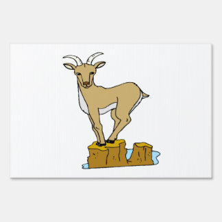 Mountain Goat Lawn Sign