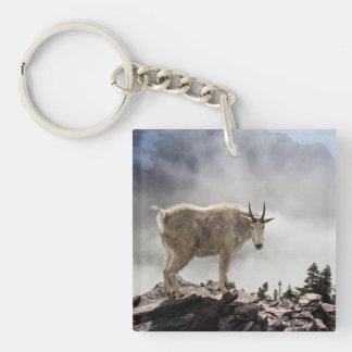 Mountain Goat on Gunsight Pass Keychain