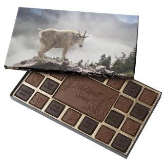 Mountain Goat on Gunsight Pass Trail 45 Piece Box Of Chocolates