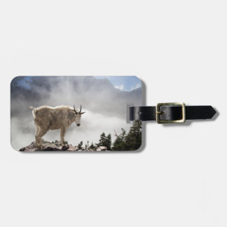 Mountain Goat on Gunsight Pass Trail Travel Bag Tag