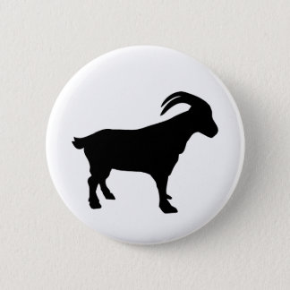 Mountain goat pinback button