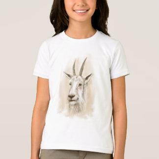 Mountain Goat Print on Kid's American Apparel Tee