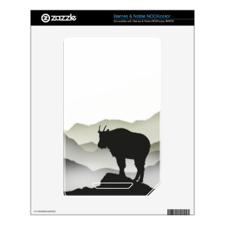 Mountain Goat Silhouette Decal For The NOOK Color