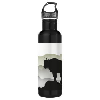 Mountain Goat Silhouette Stainless Steel Water Bottle