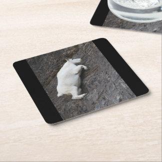 Mountain Goat Square Paper Coaster
