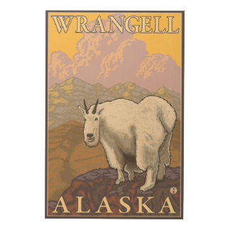 Mountain Goat - Wrangell, Alaska Wood Wall Art