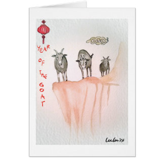 Mountain Goats greeting card with message