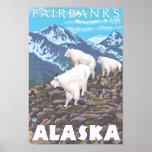 Mountain Goats Scene - Fairbanks, Alaska Print