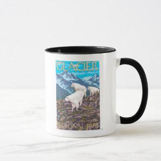 Mountain Goats Scene - Glacier National Park, Mug