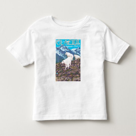 Mountain Goats Scene - Glacier National Park, Toddler T-shirt