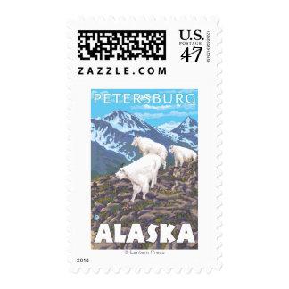 Mountain Goats Scene - Petersburg, Alaska Postage