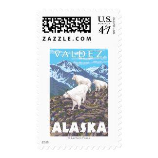 Mountain Goats Scene - Valdez, Alaska Postage