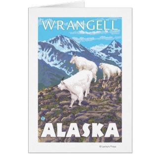 Mountain Goats Scene - Wrangell, Alaska Card
