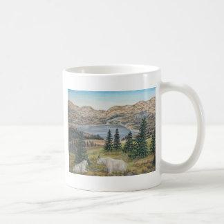Mountain Goats Wildlife Art Coffee Mug