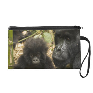 Mountain Gorilla, adult with young Wristlet Purse
