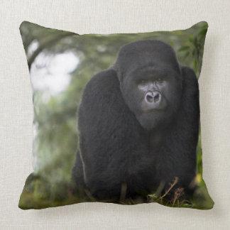 Mountain Gorilla and Silverback 3 Throw Pillow