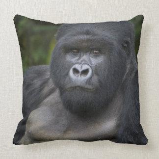 Mountain Gorilla and Silverback 4 Throw Pillow