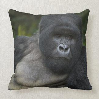 Mountain Gorilla and Silverback 5 Throw Pillow