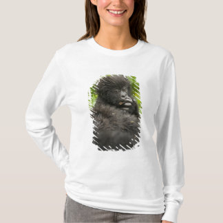 Mountain Gorilla, baby riding on mothers back T-Shirt