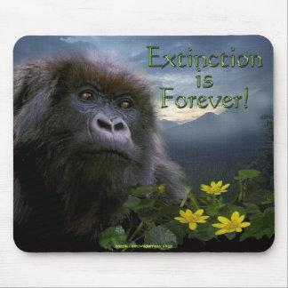 Mountain Gorilla Extinction is Forever Mousepad