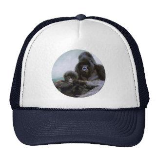 Mountain Gorilla & Father & Baby Wildlife Art Hat