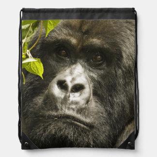 Mountain Gorilla, Gorilla beringei beringei, Drawstring Backpack