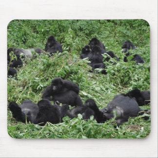 Mountain gorilla group mousepad