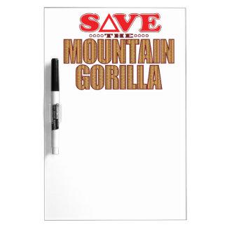 Mountain Gorilla Save Dry Erase Board