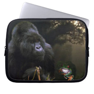 Mountain Gorilla, Tree Frog Wildlife Laptop Sleeve